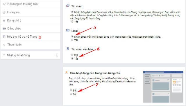 Nhiều tiện ích cho bạn lựa chọn để nhận được thông báo từ fanpage trên Facebook