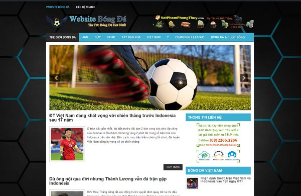 Các web bóng đá
