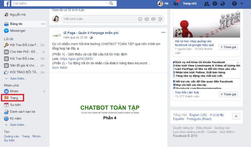 Lập và cài đặt lại trang fanpage mới sau khi chuyển trang cá nhân fb 5000 friends thành fanpage 5000 liked