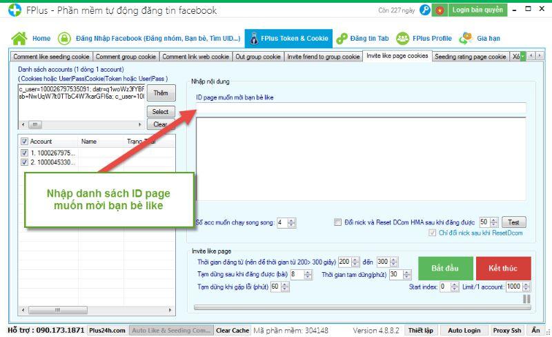 Phần mềm tăng lượt theo dõi trên facebook Fplus