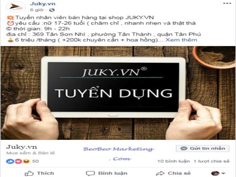 hình thức Facebook Ads